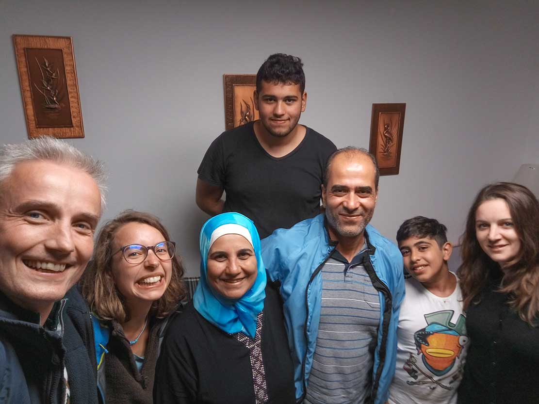 A group photo of us and friends from Syria.  Seven of us all together : )